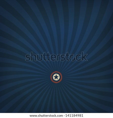 Abstract american themed background with star. Raster version, vector file available in my portfolio. - stock photo