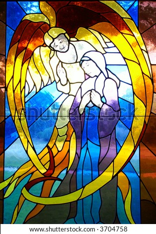 abstract angel - stock photo