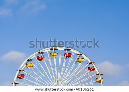 Abstract Angle of Ferris Wheel - stock photo