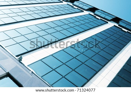 Abstract angle of skyscraper - stock photo