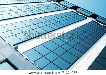 Abstract angle of skyscraper - stock photo