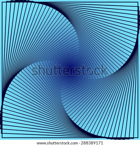 abstract angular dark blue pattern with curve cyan texture with turquoise stairs with indigo line on navy background. raster illustration - stock photo