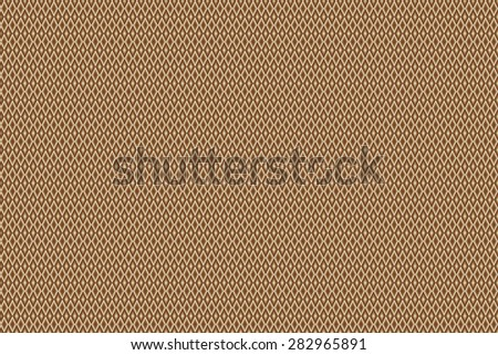 abstract angular dark bronze pattern chocolate texture with rhombus with abstract cream line on brown background. raster illustration