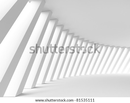 Abstract architectural background. 3d illustration - stock photo
