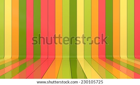 abstract architectural background made of glossy panels in stylish colors - stock photo