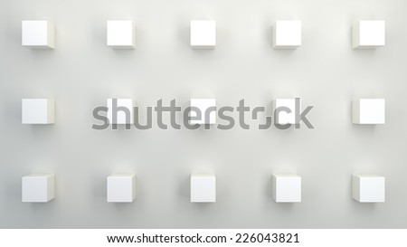abstract architectural background with geometrical objects - stock photo