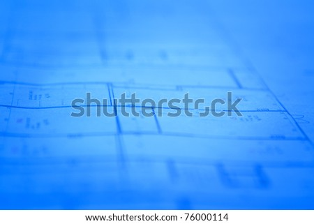 Abstract architectural blueprints background, soft focus photo with space for your text - stock photo