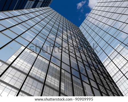 Abstract architectural construction - stock photo