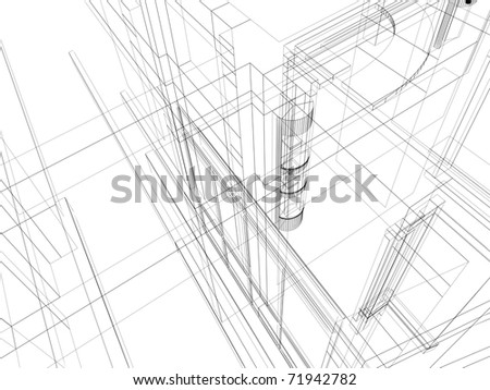 Abstract architectural construction. Architecture and designing concept. - stock photo
