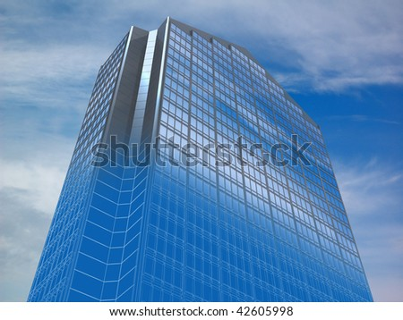 abstract architectural 3d concept of office building abstract 3d office building