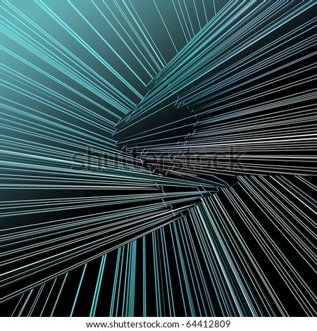 Abstract architectural 3D construction - stock photo