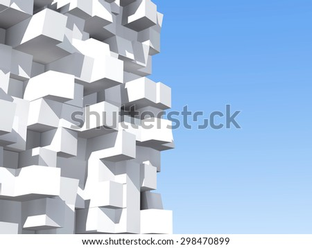 Abstract architectural, White abstract