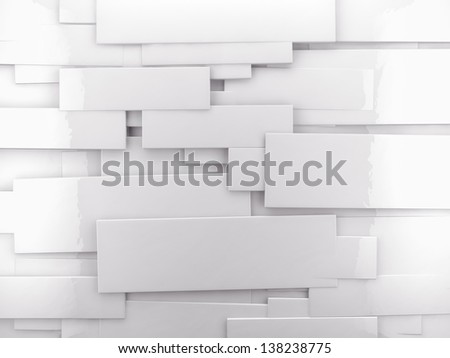 abstract architectural,White wall with shiny cubes - stock photo