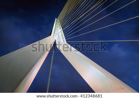 Abstract architecture angle shot as background in rotterdam - stock photo
