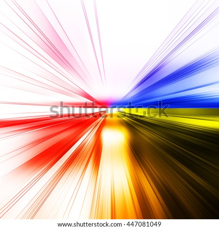 Abstract architecture background. Concept 3D rendering - stock photo