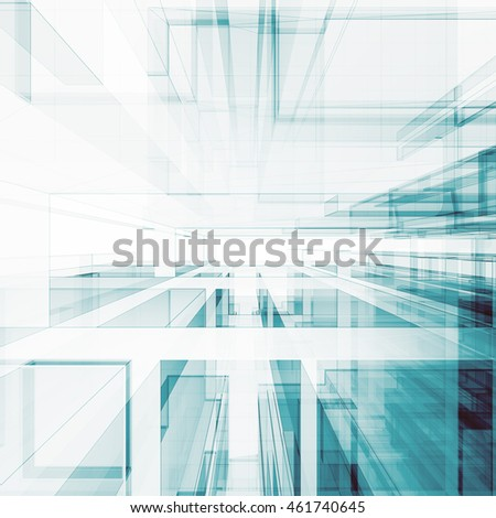 Abstract architecture background. Concept 3D rendering