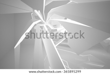 Abstract architecture background. 3D illustration. 3D rendering