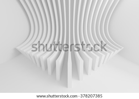 Abstract Architecture Background. White Circular Building - stock photo