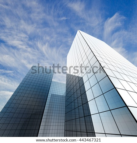 Abstract architecture. Concept 3d rendering - stock photo