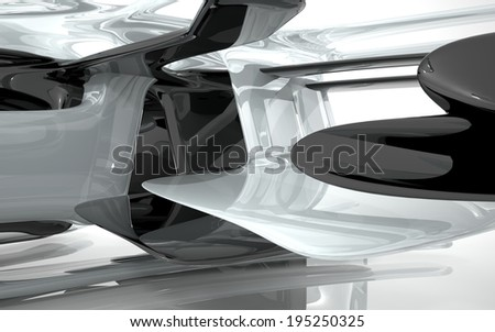 Abstract Architecture. Concept of organic architecture. - stock photo