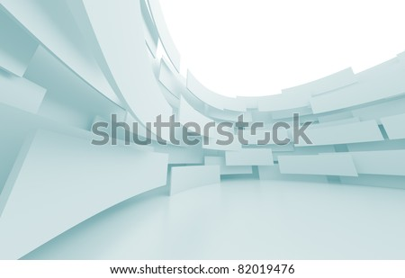 Abstract Architecture Construction - stock photo
