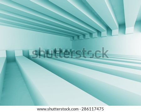 Abstract Architecture Design Futuristic Background. 3d Render Illustration - stock photo