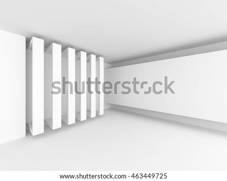 Abstract Architecture Design White Background. 3d Render Illustration