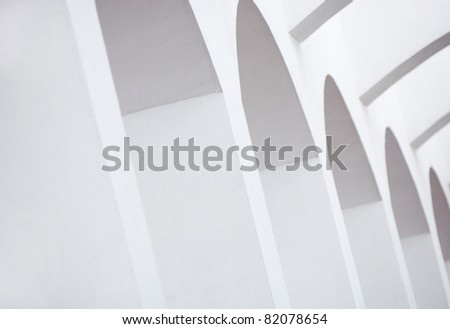 Abstract architecture in repeating arches form an interesting background