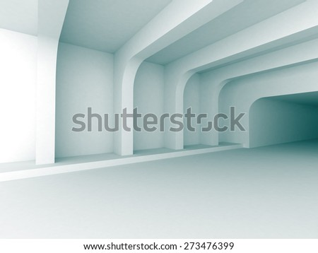 Abstract Architecture Indoor Design Background. 3d Render Illustration