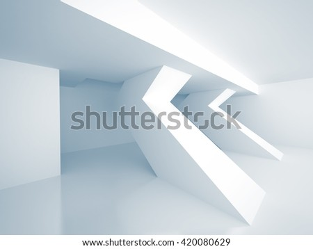 Abstract Architecture Modern Design Background. 3d Render illustration - stock photo