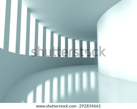 Abstract Architecture Modern Futuristic Design Background. 3d Render Illustration - stock photo