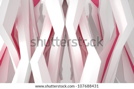Abstract architecture of the building with red windows - stock photo