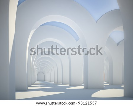 Abstract architecture - sunlit arches