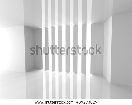 Abstract Architecture White Design Background. 3d Render Illustration