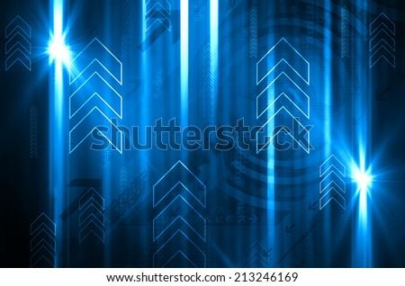 Abstract Arrows - stock photo