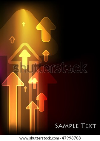 Abstract arrows light background. Vector version is also available.