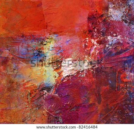 abstract art - acrylics and oils background - stock photo
