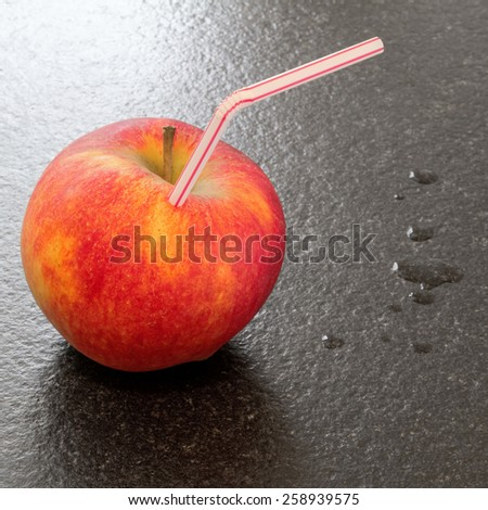 abstract art: Apple to drink - stock photo