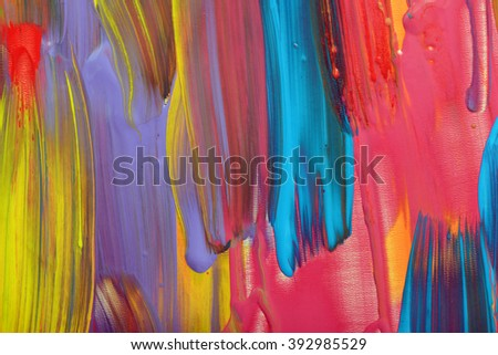 Abstract art background. Hand-painted - stock photo