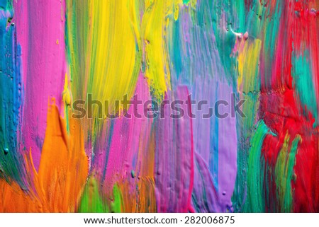 Abstract art background. Hand-painted background. - stock photo