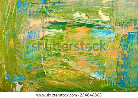 Abstract art background. Hand-painted background. SELF MADE. - stock photo