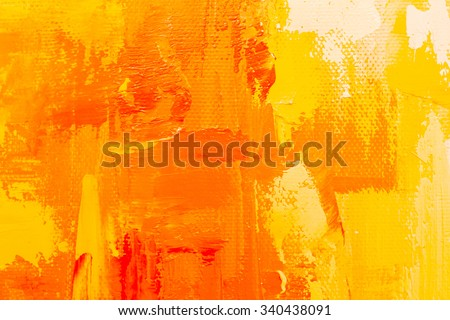 Abstract art background. Oil painting on canvas. Color texture. Fragment of artwork. Spots of oil paint. Brushstrokes of paint. Modern art. Contemporary art. Colorful canvas.