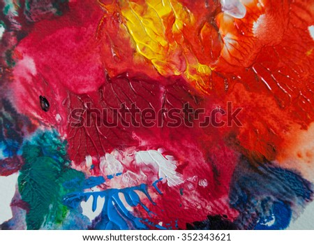 Abstract art background texture, Acrylic color hand painted