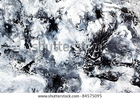 Abstract art  black and white