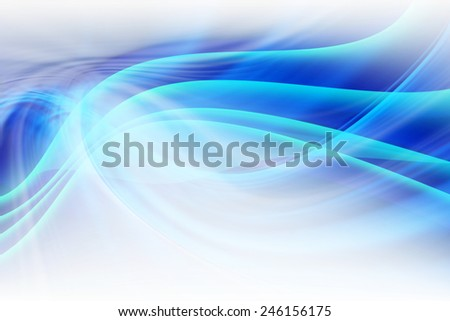 Abstract Art Blue Curved Background - stock photo