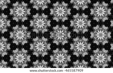 Abstract art classic luxury and elegant style pattern background in popular modern design trend 2016 for print on card paper fabric poster carpet and book cover, Raster type in black and white tone