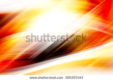 Abstract Art Curved Orange Background Design