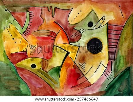 Abstract art design - stock photo