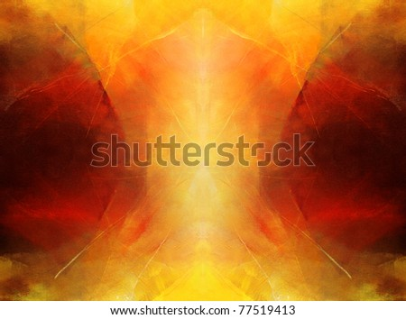 abstract art - hand painted canvas - stock photo