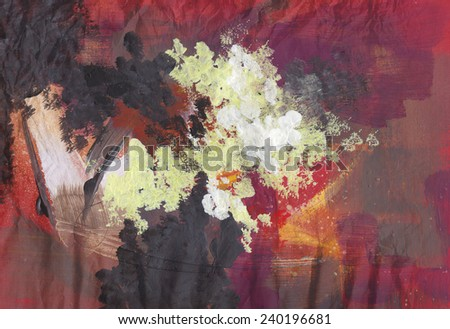 Abstract art - hand painted canvas background - stock photo